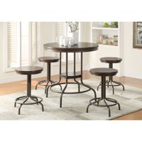Burney 5 piece Counter height Dining Set Cherry Oak And Bronze