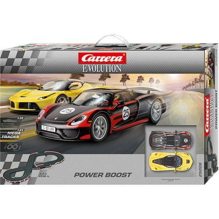 carrera power boost evolution 1 32 scale slot car race set. Black Bedroom Furniture Sets. Home Design Ideas