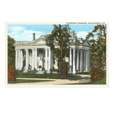 Governor's Mansion, Tallahassee, Florida Print Wall Art - Party City In Tallahassee Florida
