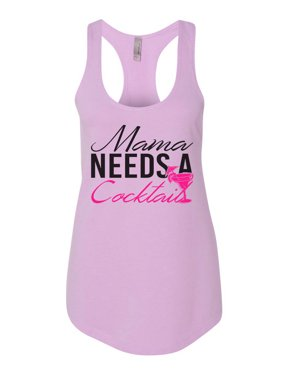 "c11f61d07ef413 Product Image Womens Flowy Tank Top ""Mama Needs A Cocktail"" Fitness Funny  Shirt Funny Threadz X"