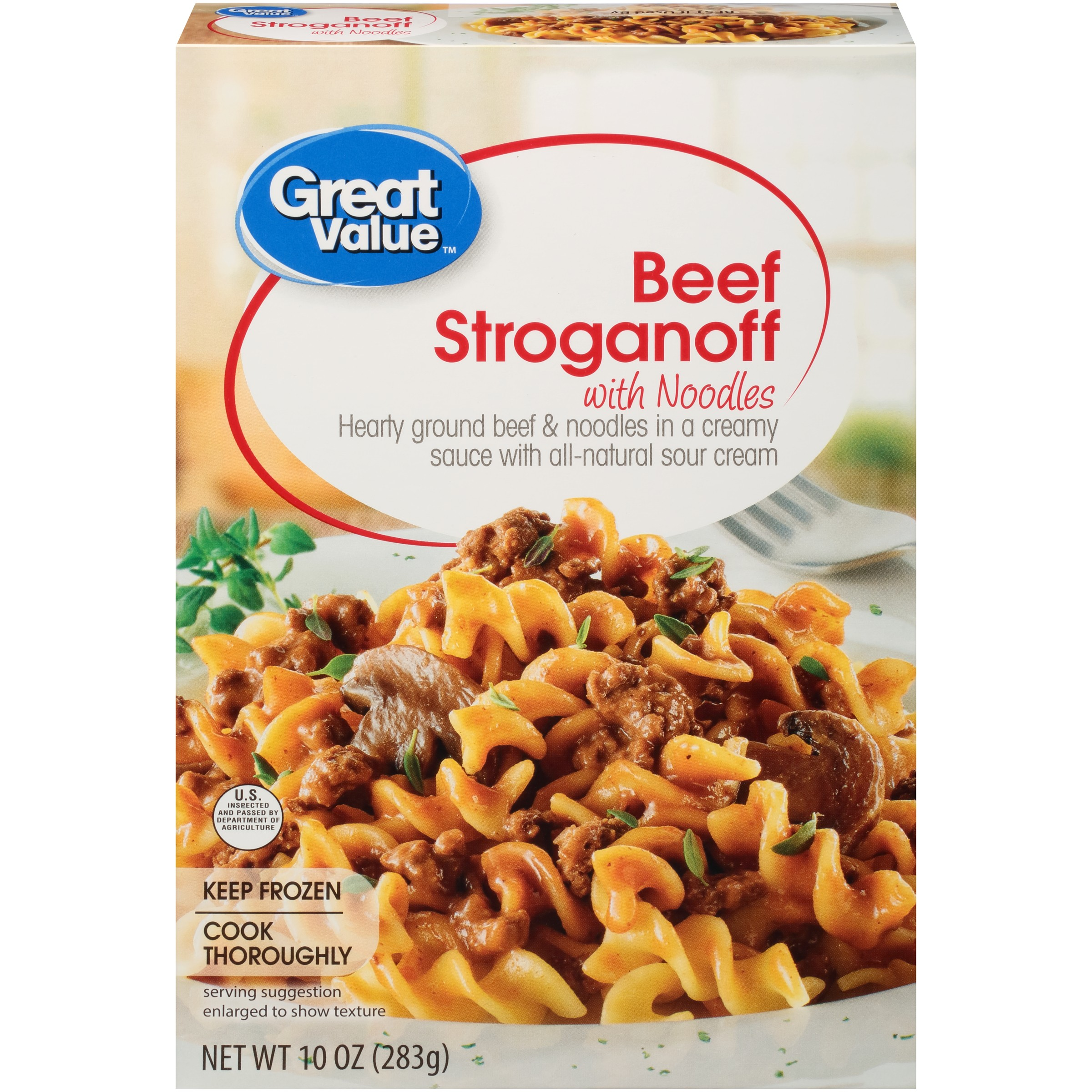 Great Value Beef Stroganoff with Noodles, 10 oz
