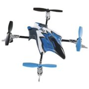 Heli-Max Canopy Set with 4 Rotor Blades, Blue