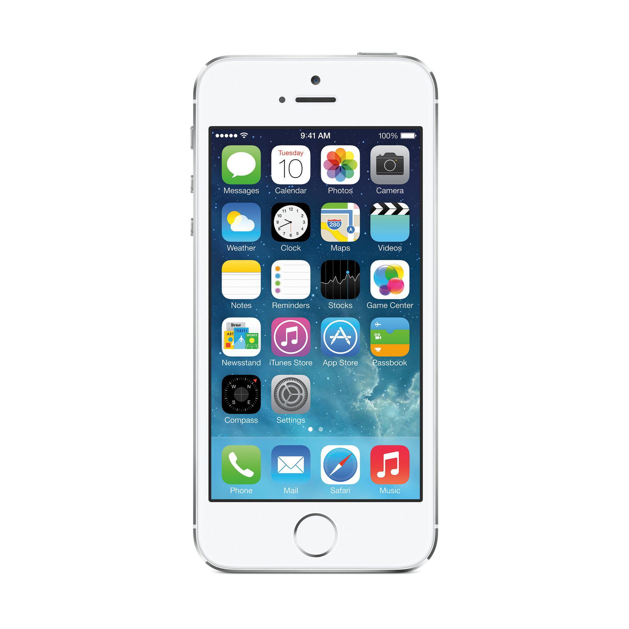 Straight Talk Prepaid Apple iPhone 5S 16GB CDMA Smartphone, Refurbished by Apple