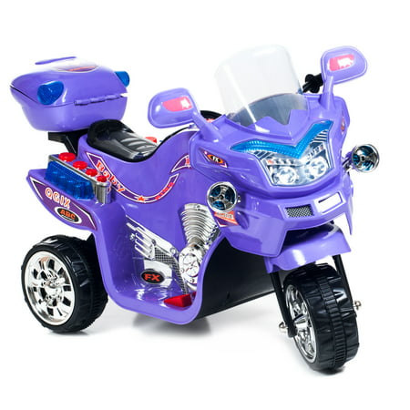 Ride on Toy, 3 Wheel Motorcycle for Kids, Battery Powered Ride On Toy by Lilâ Rider â Ride on Toys for Boys and Girls, 2 - 5 Year Old - Purple FX