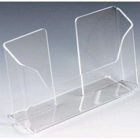 Displays2go Set of 20, Postcard Holders for Tabletop, Slant Back Single Pocket Design for 6 x 4 Cards - Clear Acrylic (LHPCLAND) ()