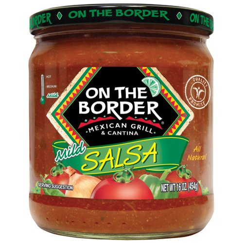 On The Border Mexican Grill & Cantina Mild Salsa, 16 oz