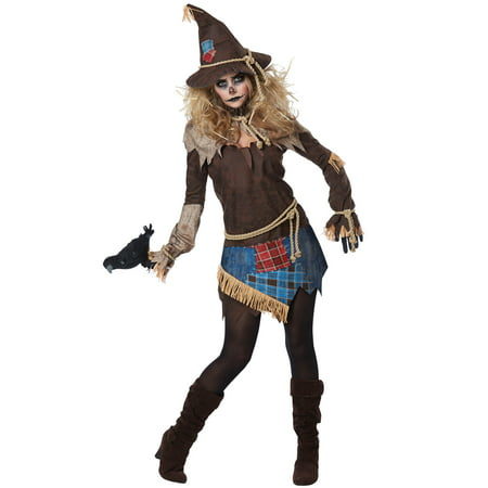 Creepy Scarecrow Adult Costume - Scarecrow Makeup Halloween