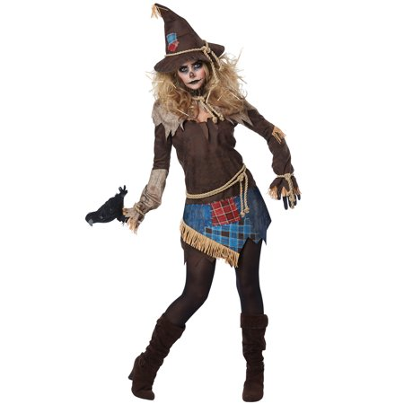Creepy Scarecrow Adult Costume - Scarecrow Costume For Adults
