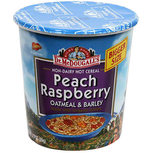 ***Discontinue***McDougall's Peach Raspberry with Organic Grains Big Cup, 3 oz. (Pack of 6)