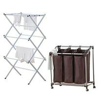 Alert 843631109427 Laundry Sorter With Rack