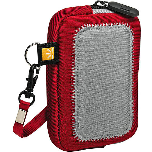 Case Logic Pockets UNZ-3 Universal Case for Digital Cameras, MP3 Players, and More :: Red, Blue, Lime, Medium