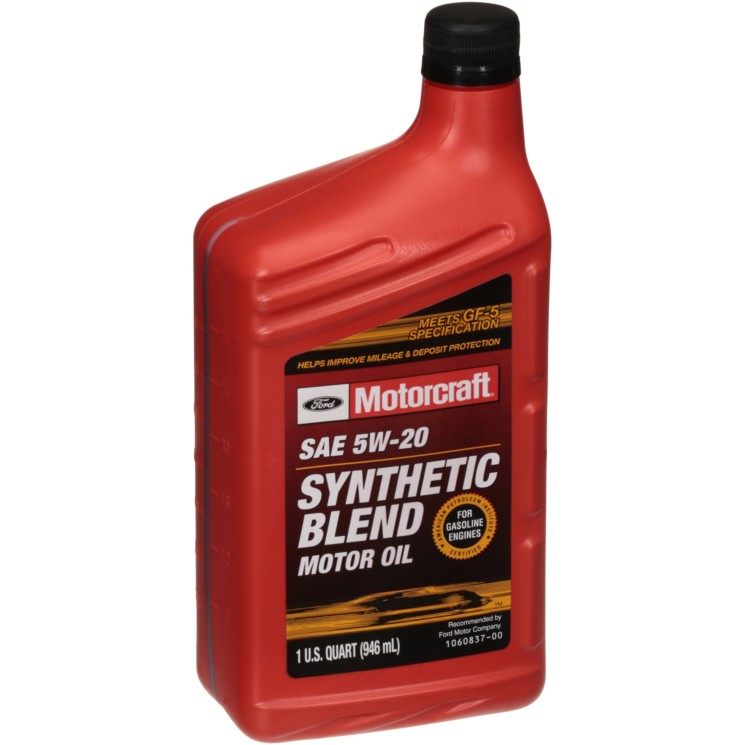 (4 Pack) Motorcraft Motor Oil, 5W20, 1-Quart
