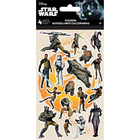Standard Stickers 4 sheet - Star Wars - Rebels Stationery New st2560 - image 1 de 1