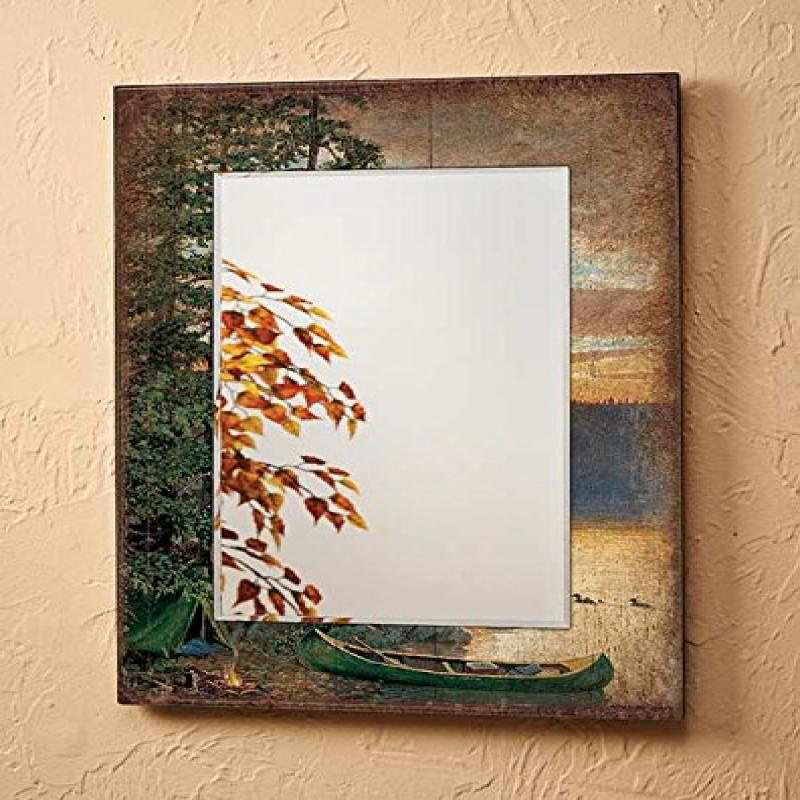 Summer Sunrise Loons Large Scenic Mirror by Persis Clayton Weirs by