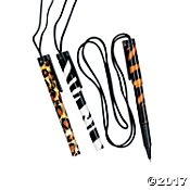 Lot of 12 Safari Pens on a Rope Jungle Zoo Party Favors