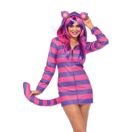 Leg Avenue Women's Cheshire Cat Cozy, Pink/Purple, X-Small