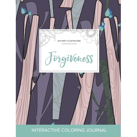 Adult Coloring Journal: Forgiveness (Butterfly Illustrations, Abstract Trees) (Paperback) - Palm Tree Coloring Page