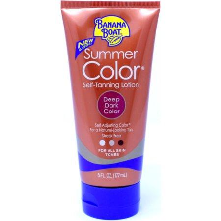 Dark Tan Combo - Banana Boat Summer Color Self-Tanning Lotion Deep Dark Color - 6 Ounces