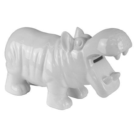UPC 714439693305 product image for Sagebrook Home Ceramic Hippo Money Piggy Bank | upcitemdb.com