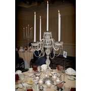Gallery T40-337 Clear 5 Candle Candelabra Centerpiece