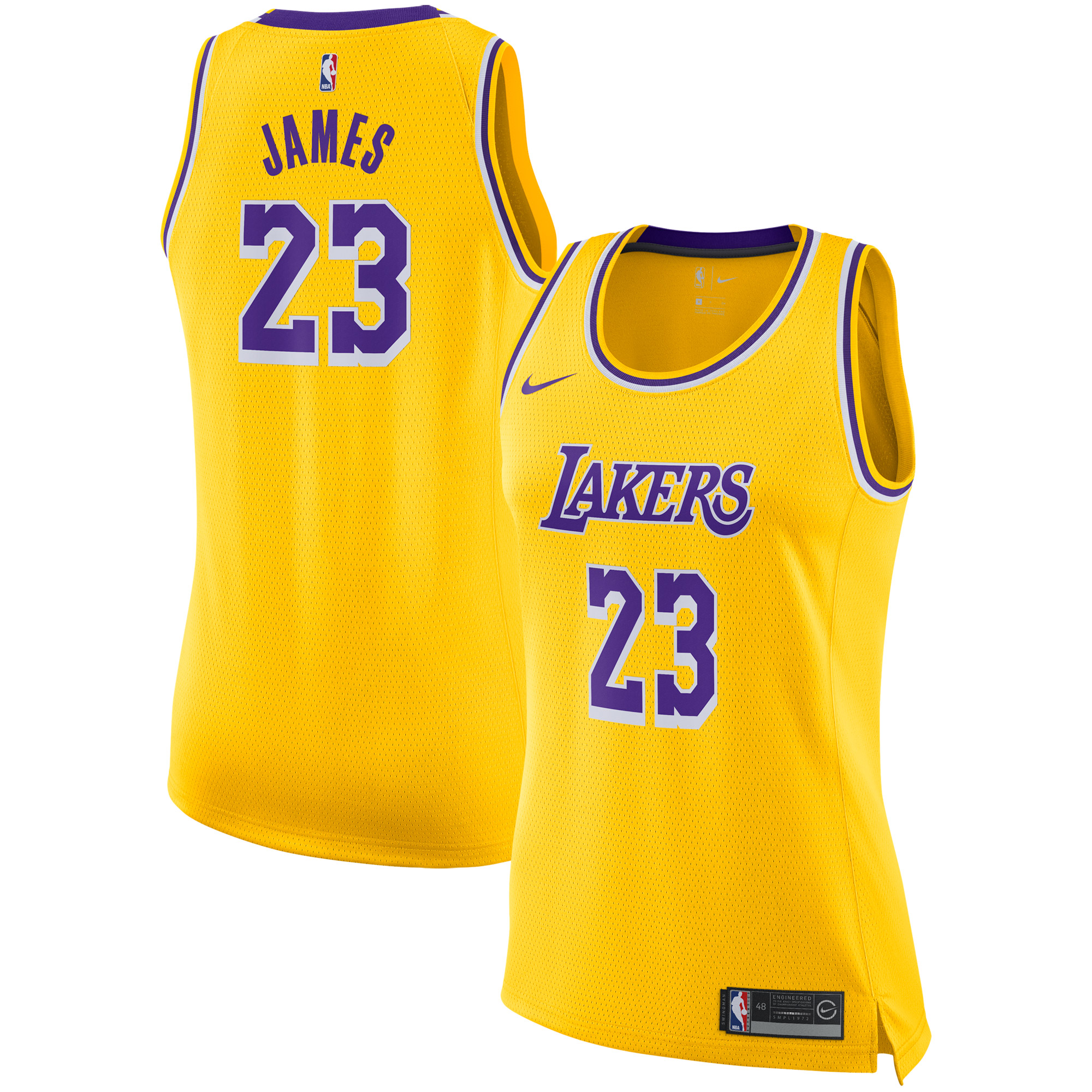 3744a605a04 LeBron James Los Angeles Lakers Nike Women s Swingman Jersey - Gold - Icon  Edition - Walmart.com