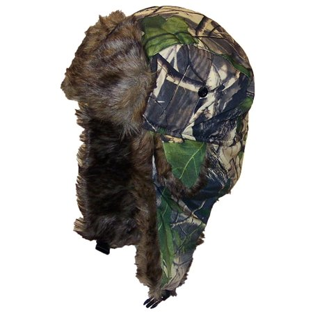 Best Winter Hats Adult Tree Camouflage Russian/Hunters W/Soft Faux Fur Winter Hat (One Size) -
