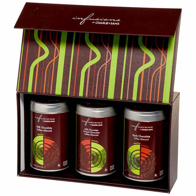 Infusions by Charlie and Sam's Chocolate Tea Covered Almonds Tin Set - image 1 of 1