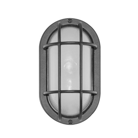 Nautical Light Fixtures Round Bulkhead (Euri Lighting Outdoor Bulkhead Wall Light, 6.2W, Cool White,)