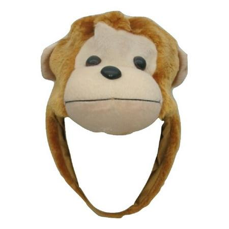 Adult Plush Animal Monkey Chimpanzee Chimp Gorilla Hat Hood Costume Accessory (Chimpanzee Costume)