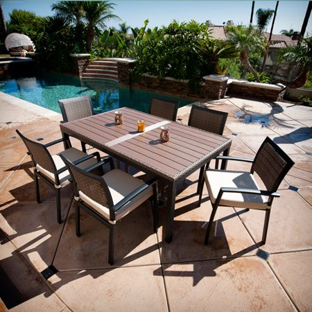 Red Star Traders Outdoor Zen 7 Piece Dining Table Box 2 Of