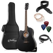 Ashthorpe Full-Size Left-Handed Cutaway Thinline Acoustic-Electric Guitar Package - Premium Tonewoods