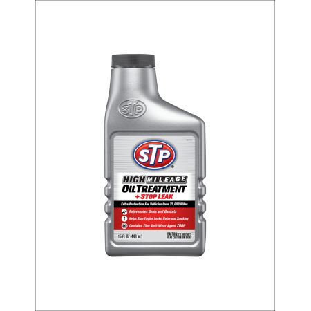 STP High Mileage Oil Treatment + Stop Leak, 15 fl. (Best Ac Stop Leak)
