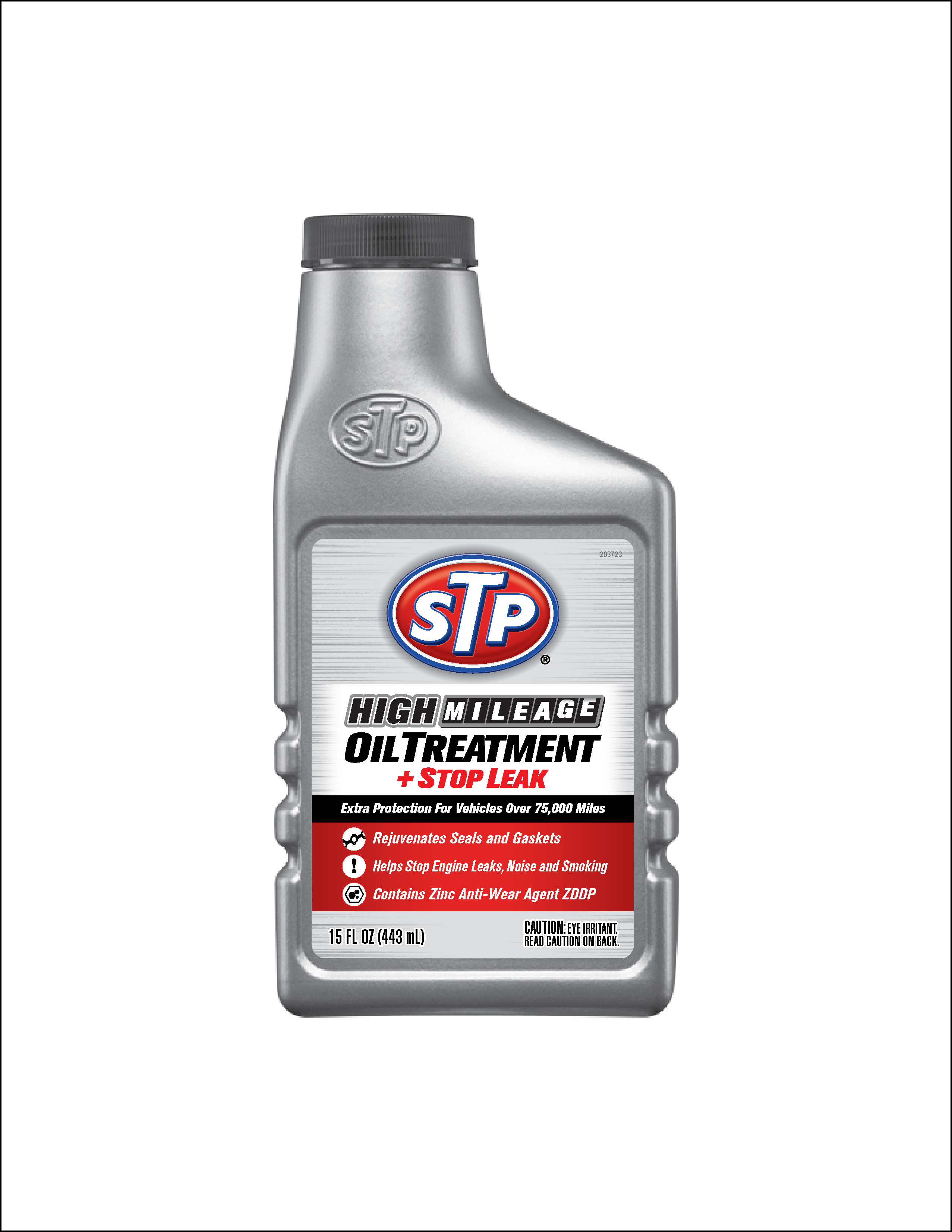 STP High Mileage Oil Treatment, Formula for Cars & Truck, Stop Leak