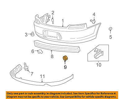 Genuine Chrysler Parts 4805426AA Rear Bumper Reflector
