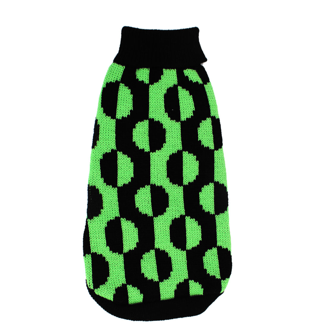 Stylish Black Green Jackuard Knitted Pet Puppy Dog Clothes Dog Apparel Sweater Size XXS