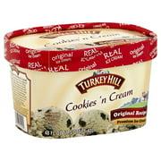 Turkey Hill Cookies 'n Cream Original Recipe Premium Ice Cream 48 fl. oz. Tub