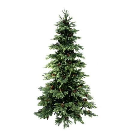 7 pre lit new england pine medium artificial christmas tree with pine cones - Christmas Tree With Pine Cones