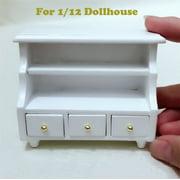 Mini Dollhouse Furniture Cabinet Miniature Living Room Kids Pretend Play Toy