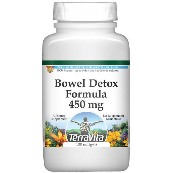 Bowel Detox Formula Psyllium, Kelp and Chlorophyll 450 mg (100 capsules, ZIN: 512484) by TerraVita