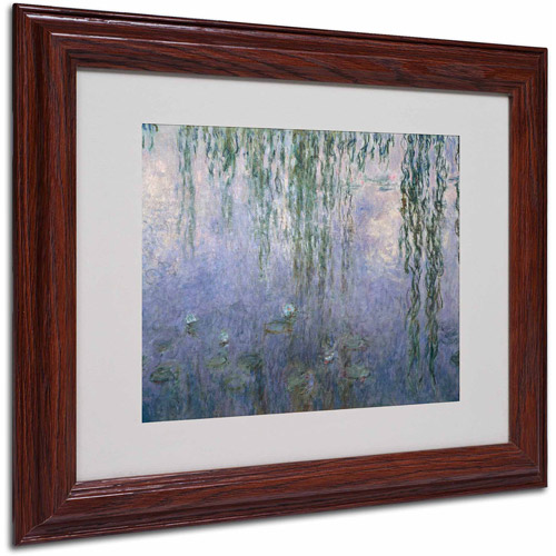 "Trademark Fine Art ""Water Lilies III 1840-1926"" Canvas Art by Claude Monet, Wood Frame"