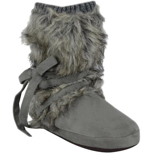 Muk Luks Tonal Fur Wrap Boot