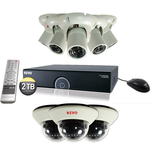 Revo America 16-Channel 2TB 960H DVR Surveillance System with Eight 1200TVL 100' Night Vision Cameras