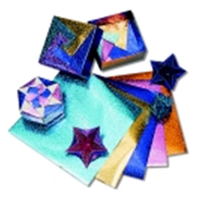 Hygloss Folders Fantasy Foil Embossed Origami Paper - 6 x 6 in. - Assorted Color, Pack 100