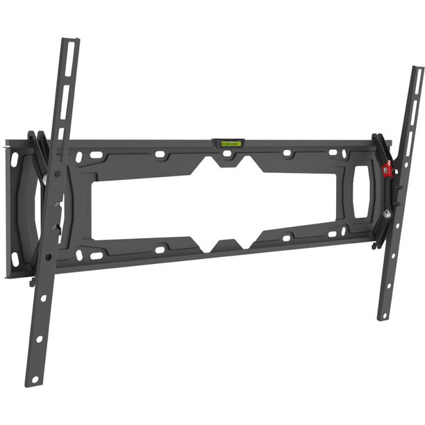 Barkan 32 - 90 inch Tilt Flat / Curved TV Wall Mount Black Auto Locking Patent Touch & Tilt Bubble Level Included Lifetime Warranty