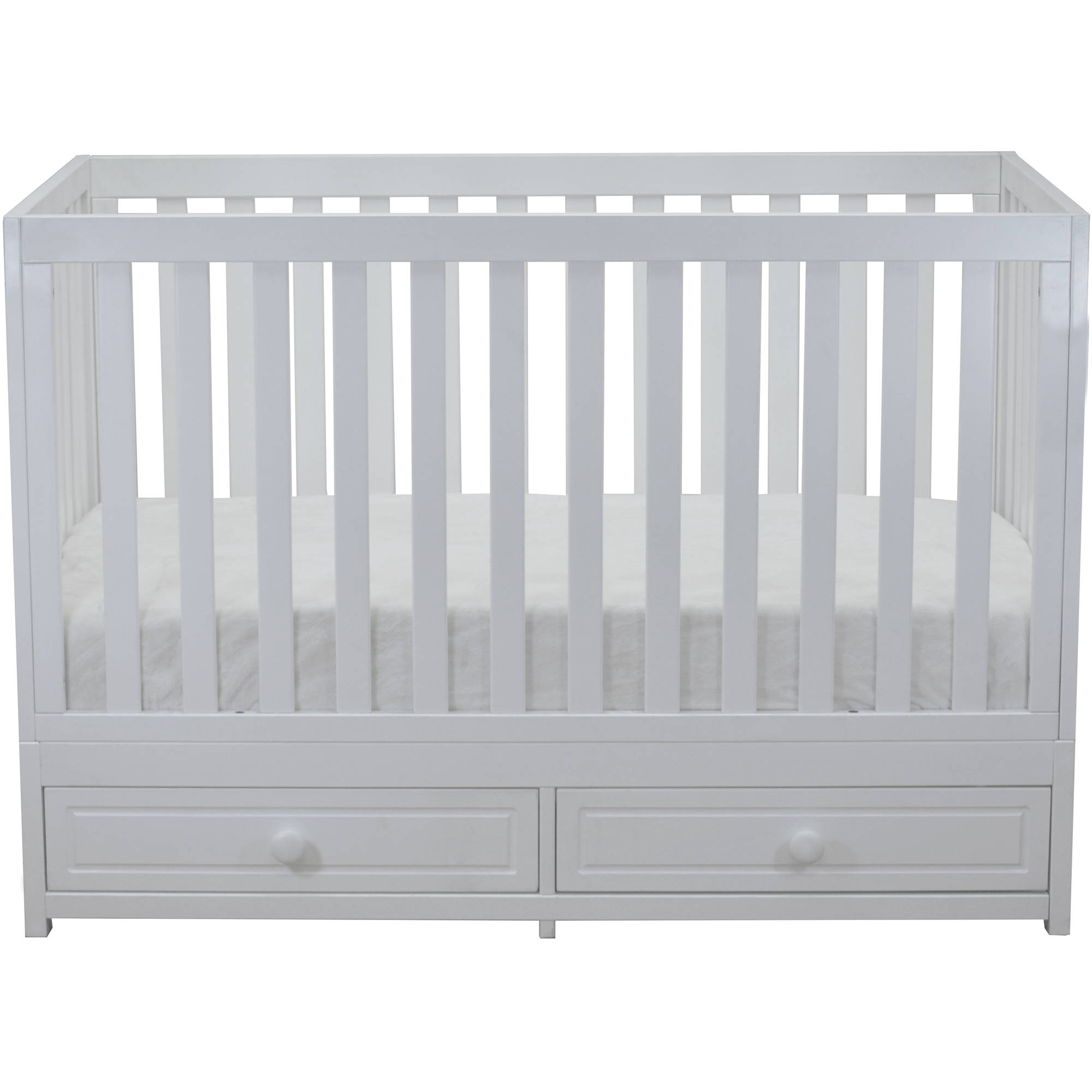 AFG Baby Furniture Marilyn 3-in-1 Convertible Crib with Storage White