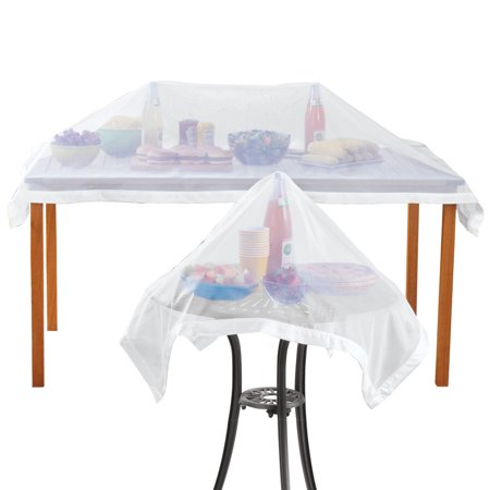 Set Of 2 Mesh Picnic Food Table Covers Organza Netting Outdoor