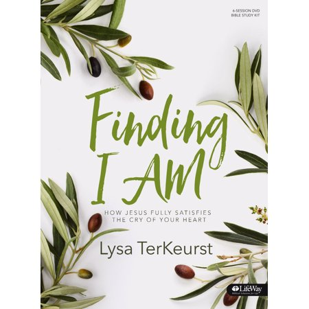 """Finding I Am Leader Kit (Curriculum Kit) What is the deep cry of your heart? The ache in your soul that keeps you up at night? The prayer you keep repeating? Jesus not only cares about this deep, spiritual wrestling, but He also wants to step in and see you through it.  Join Lysa TerKeurst on the streets of Israel to explore the seven I AM statements of Jesus found in the Gospel of John. Through this interactive, in-depth study we will be trading feelings of emptiness and depletion for the fullness of knowing who Jesus is like never before.Features: · Interactive teaching videos, with footage from the Holy Land, approximately 15-20 minutes in length per session · Leader helps to guide questions and discussions within small groups · Five weeks of personal study segments to complete between six weeks of group sessions · Four days, with an optional fifth day, of study within each week of personal study Benefits: · Find freedom in difficult circumstances by learning how to shift from """"slave mentality"""" to """"set free mentality"""" · Discover how Jesus is the key to satisfaction by learning the crucial significance behind each of His I AM statements · Trade feelings of emptiness for the fullness of knowing who Jesus is · Grow in biblical literacy with this exploration of the Gospel of John"""