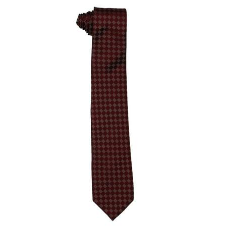 Sean John Mens Silk Pattern Neck Tie Red O/S