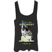 Grumpy Cat Juniors' It's My Birthday Tank Top