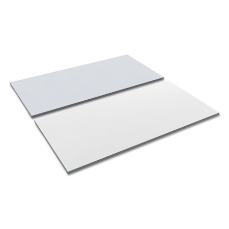Alera Reversible Laminate Table Top, Rectangular, 59 1/2w x 29 1/2d, White/Gray - White Table Top